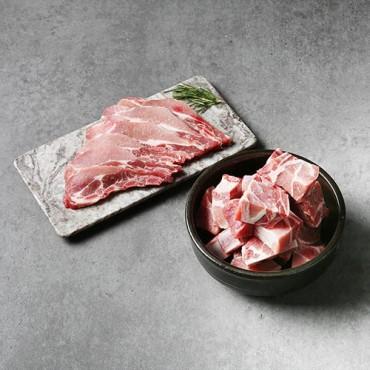 [초은농장] 무항생제 돼지 갈비 1kg 2종 / 택