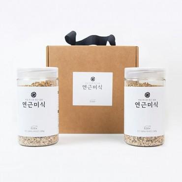 [해밀] 연근미식 선물세트 (200g x 2개 + 선물상자)