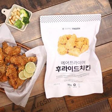 [마켓프로즌] 에어프라이어 후라이드 치킨 (양념치킨소스 포함)