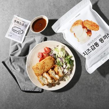 [마켓프로즌] 치즈감동 뚱까스 470g (3개입) + 소스 150g