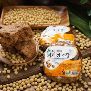 [함씨네토종콩식품] 토종콩찌개 청국장 200g x 2개