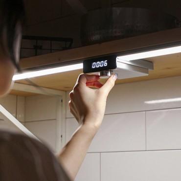 [앱코] 오엘라 무선 센서 타이머 LED바 (색상 실버)