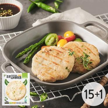 [굽네] 닭가슴살 오븐 스테이크 청양고추맛 100g 15+1팩