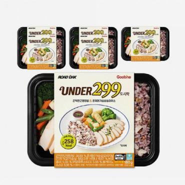 [굽네] UNDER299 도시락 곤약연근영양밥&훈제닭가슴살슬라이스 180g 6팩