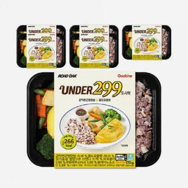 [굽네] UNDER299 도시락 곤약연근영양밥&골드오믈렛 170g 6팩