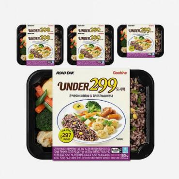 [굽네] UNDER299 도시락 곤약현미야채영양밥&갈릭닭가슴살비엔나 180g 6팩
