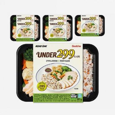 [굽네] UNDER299 도시락 곤약퀴노아영양밥&깻잎닭가슴살볼 180g 6팩