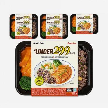 [굽네] UNDER299 도시락 곤약현미야채영양밥&레드크림커리닭가슴살 190g 6팩